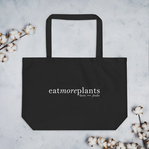Grow better. Eat better. Live better.   |   Large organic tote bag