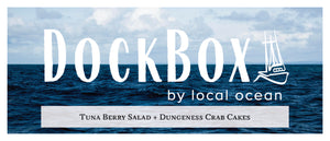 Box #21: Tuna Berry Salad & Dungeness Crab Cakes