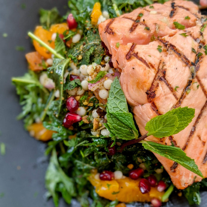 Mint Couscous Salmon Salad