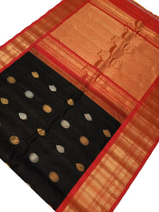 Black Gadwal Silk Saree