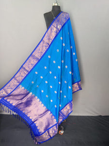 Blue Kanchipuram Silk Dupatta