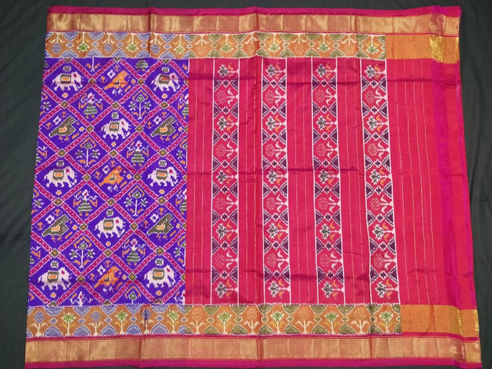 Purple Pochampally Ikat Silk Saree