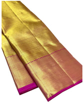 Load image into Gallery viewer, Bridal Gold Kanchipuram Silk Saree