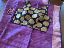 Load image into Gallery viewer, Violet Matka Silk Saree with Blouse