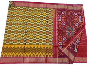 Cream Pochampally Ikat Sico Saree