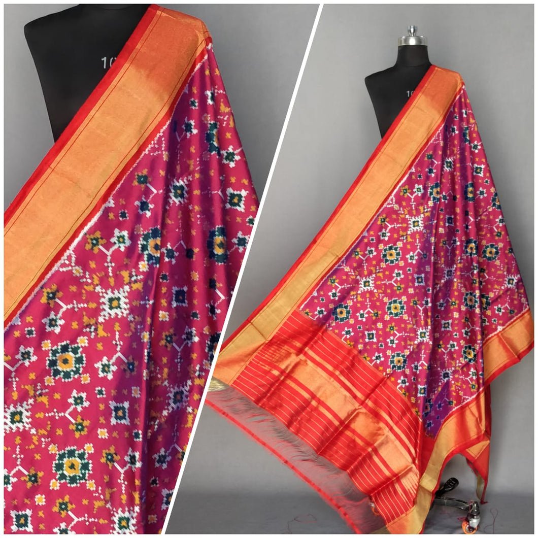 Ikat Silk Dupatta - More Colors Available