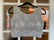 Load image into Gallery viewer, Silver Net Floral Blouse