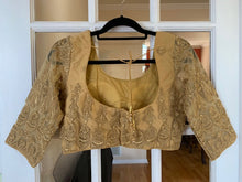 Load image into Gallery viewer, Gold Net Blouse