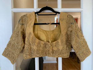 Gold Net Blouse