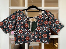 Load image into Gallery viewer, Dark Green Ethnic Design Blouse