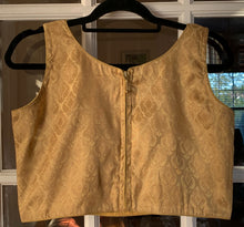 Load image into Gallery viewer, Sleeveless Gold Blouse