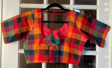 Load image into Gallery viewer, Multicolor Checkered Cotton Blouse