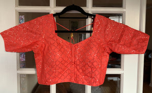 Pink Sequined Blouse