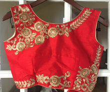 Load image into Gallery viewer, Sleeveless Red Embroidered Blouse
