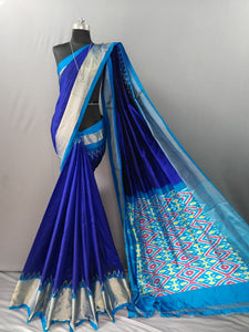 Royal Blue Pochampally Ikat Silk Saree