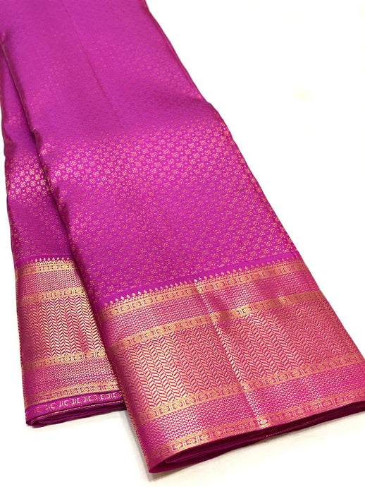Bridal Pink Brocade Kanchipuram Silk Saree