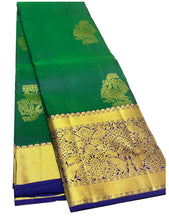 Load image into Gallery viewer, Green Kanchipuram Silk Saree