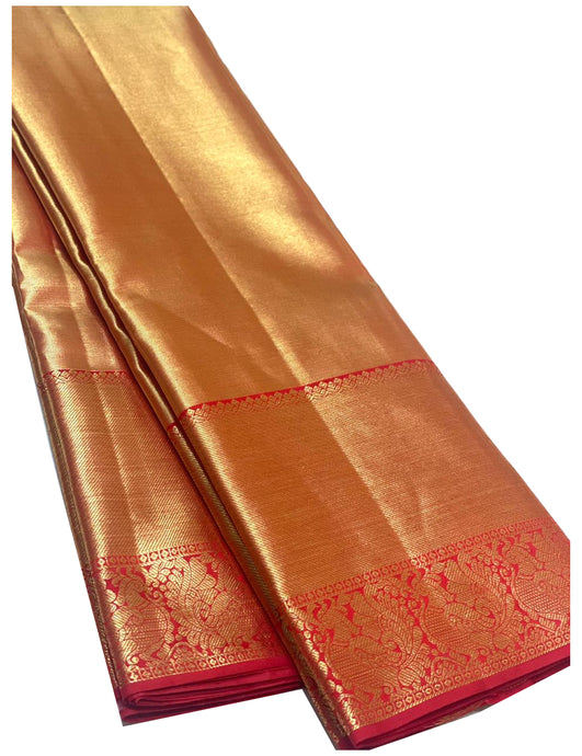 Bridal Golden Kanchipuram Silk Saree