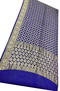 Royal Blue Bandhani Silk Saree