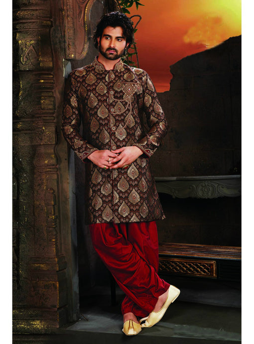 Black Wedding Sherwani