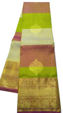 Load image into Gallery viewer, Multicolor Striped Kanchipuram Silk Saree