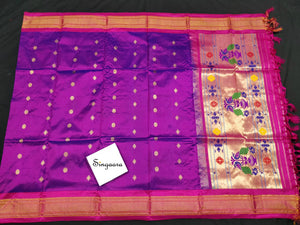 Purple Paithani Silk Dupatta