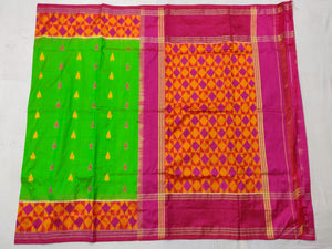 Green Pochampally Ikat Silk Saree