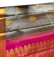 Load image into Gallery viewer, Grey Kanchipuram Silk Saree