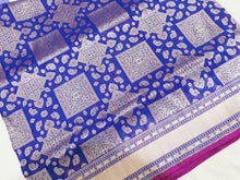 Load image into Gallery viewer, Royal Blue Banarasi Silk Saree
