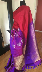 Chili Red Kanchipuram Silk Saree