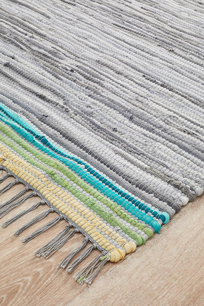 Atrium Boho Whimsical Rug Grey