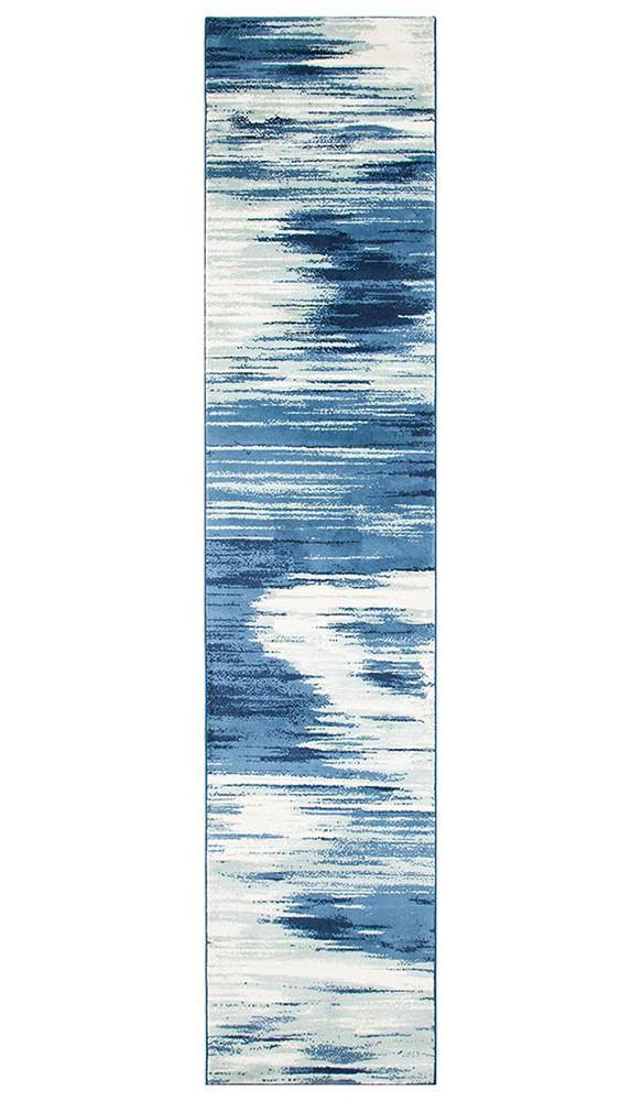 Chelsea Sedrick Dreamy Modern Runner Rug Blue Cream - Block & Crate