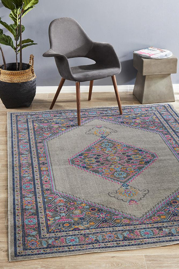 Eternal Whisper Diamond Grey Rug