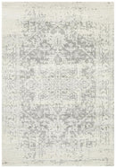 Evoke Dream White Silver Transitional Rug
