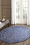 Evoke Artist Navy Transitional Round Rug