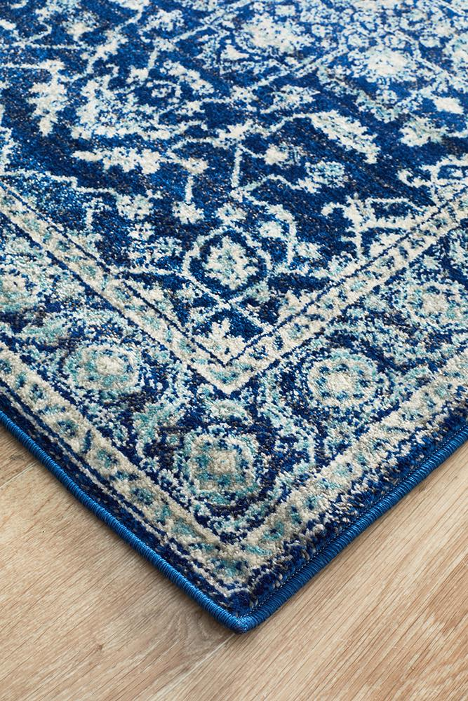 Evoke Release Navy Transitional Runner Rug