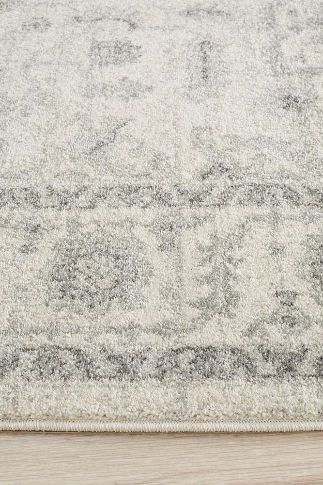 Evoke Winter White Transitional Rug - Block & Crate
