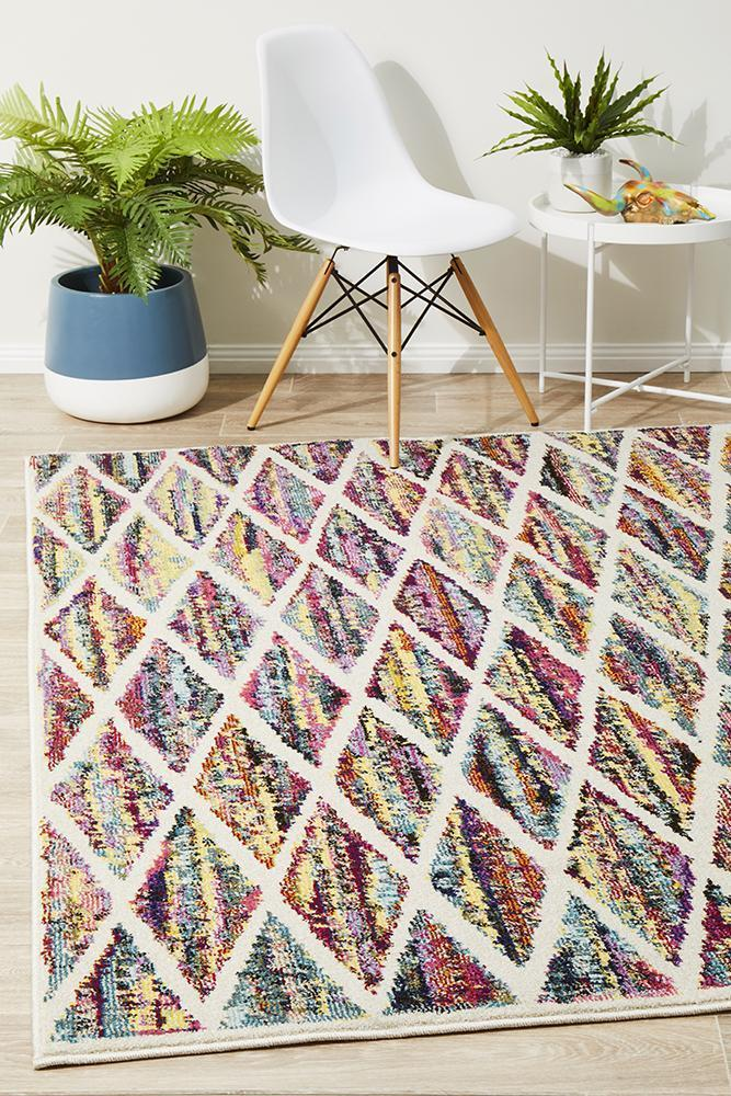 Gemini Modern 502 Multi Coloured Rug - Block & Crate