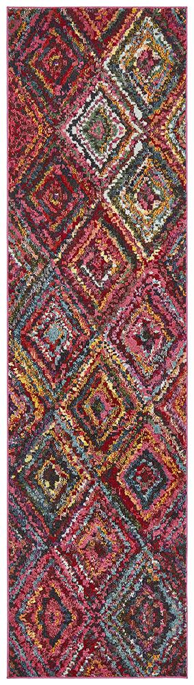 Gemini Modern 503 Multi Coloured Runner Rug - Block & Crate