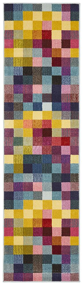 Gemini Modern 506 Multi Coloured Rug - Block & Crate