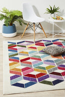 Gemini Modern 508 Multi Coloured Rug - Block & Crate