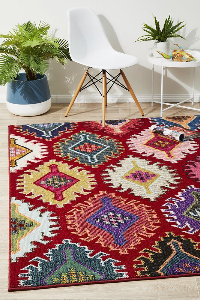 Gemini Modern 512 Red Rug - Block & Crate