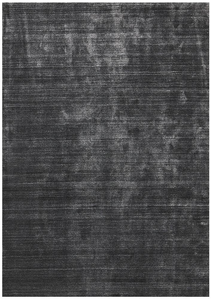 Havana Wool & Silky Viscose Charcoal Rug - Block & Crate