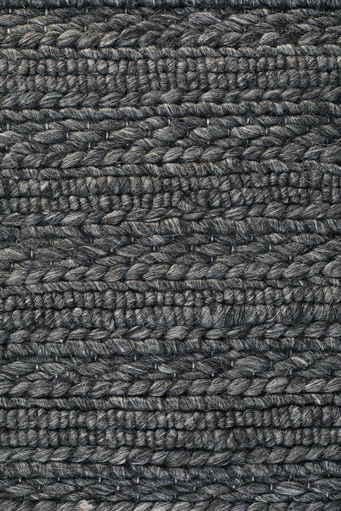 Harvest 801 Charcoal Rug - Block & Crate