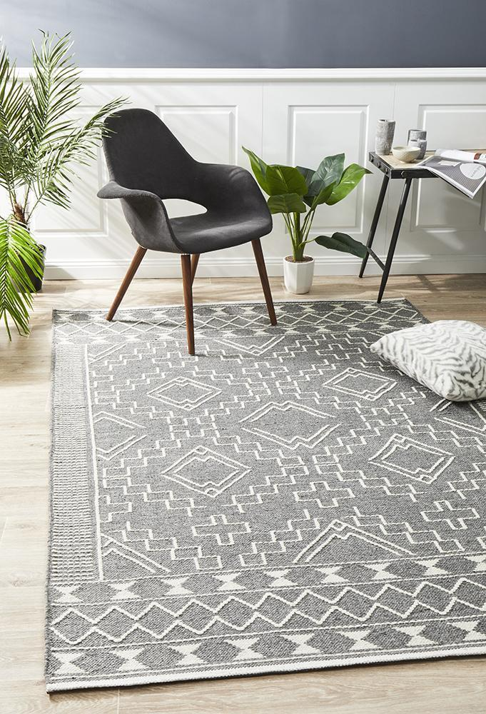 Salena Rug Grey - Block & Crate