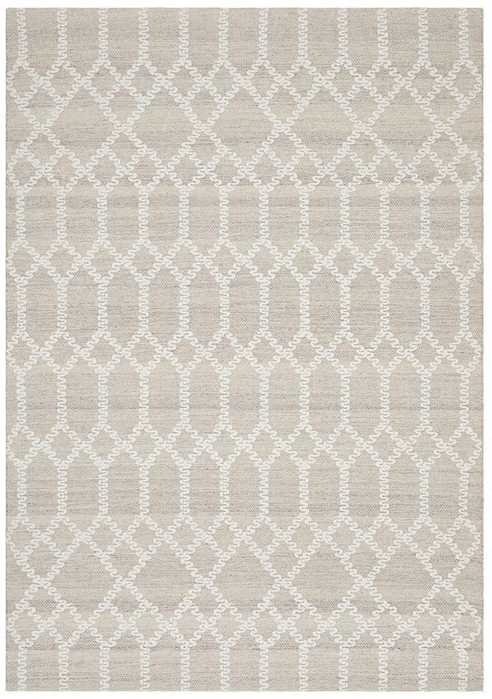 Krisha Tribal Trellis Rug Natural Beige - Block & Crate