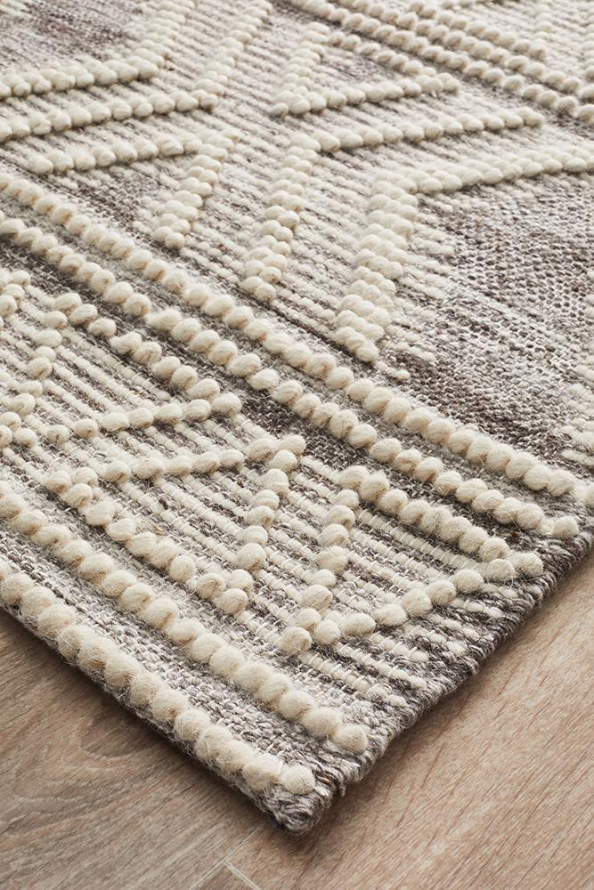 Esha Woven Tribal Rug Natural - Block & Crate