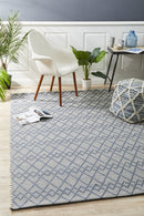 Deepa Stunning Wool Rug Denim Bone - Block & Crate