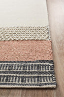 Esha Textured Woven Rug White Peach - Block & Crate