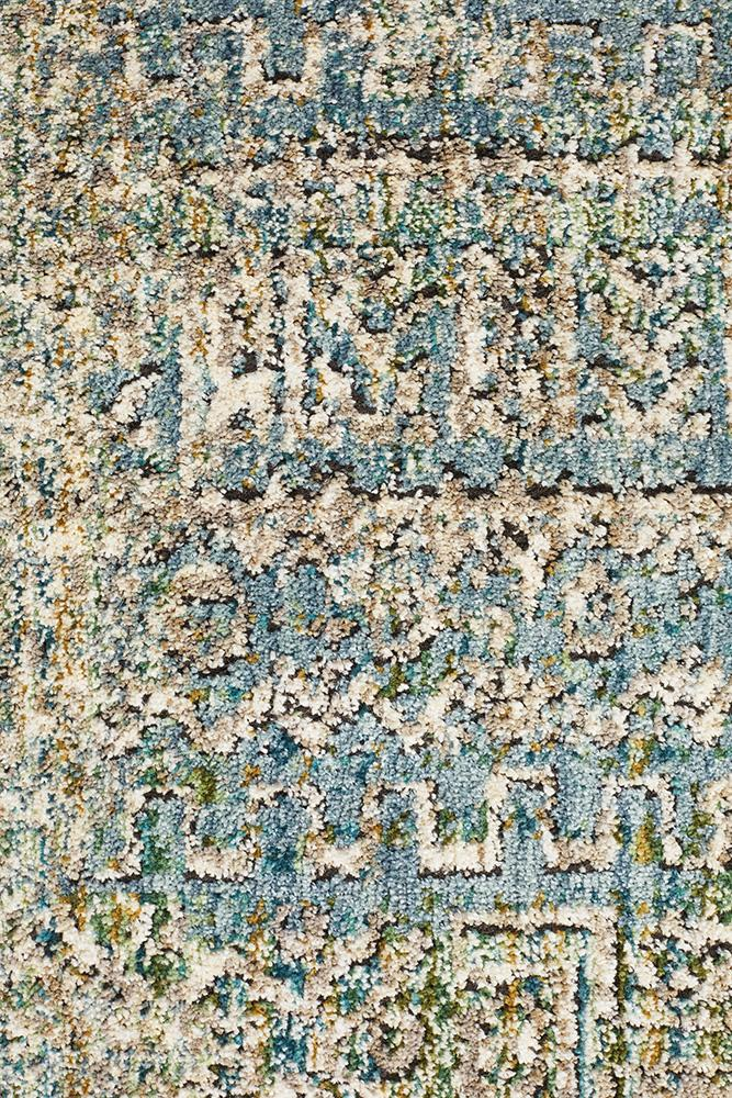 Jezebel Fluid Dusk Modern Blue Rug - Block & Crate